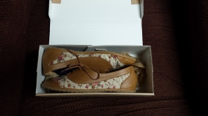 Shoes as they appeared in the box