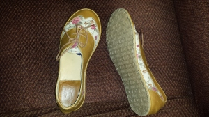 Shoes with sole visible
