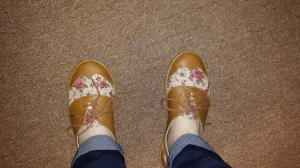 me wearing the shoes