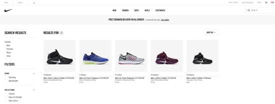 Nike Flyease selection Canada