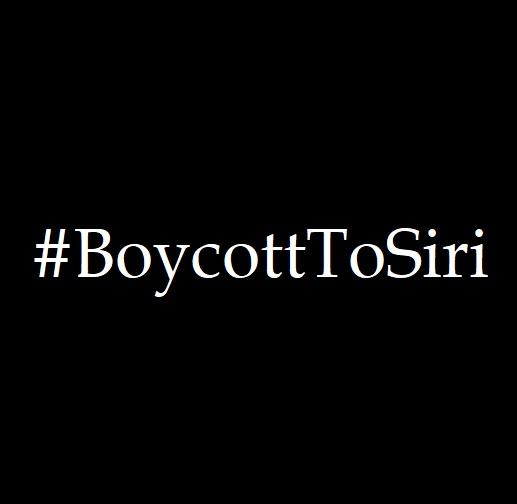 boycott to siri